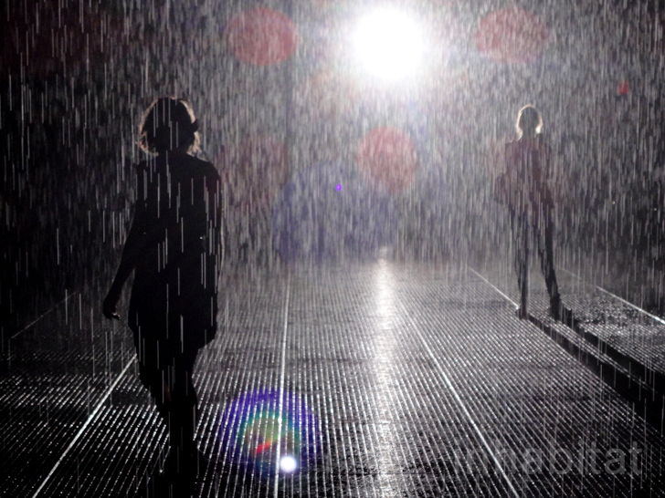 "PHOTOS: MoMA's ""Rain Room"" Lets You Walk Through the Rain Without Getting Wet"