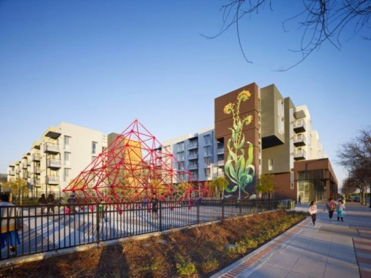 Station Center, David Baker and Partners, affordable housing, leed platinum, eco housing, union city, bay area