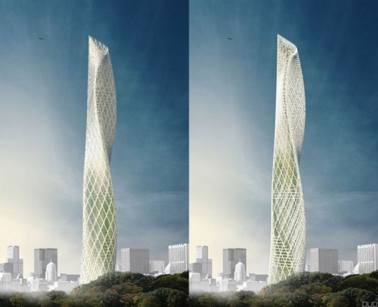 Taiwan Wind Tower, Taichung Wind Tower, Decode Urbanism Office, Beijing architects, Taichung towers, Taichung buildings, LED facade, LED lights, sustainable tower, wind power, wind turbines, wind facade, renewable energy sources, kinetic energy wind, tower plum blossom