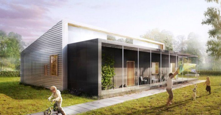 Upcycle house lendager architects building 175 000 home for Salvaged building materials los angeles