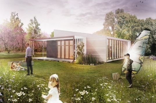 Upcycle House, Lendager Architects, nyborg, denmark, recycled materials, upcycled materials, cargotecture