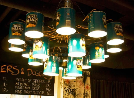 Willem Heeffer Creates Upcycled Heinz Beanz Can Chandeliers for Helsinki's Midhill Restaurant