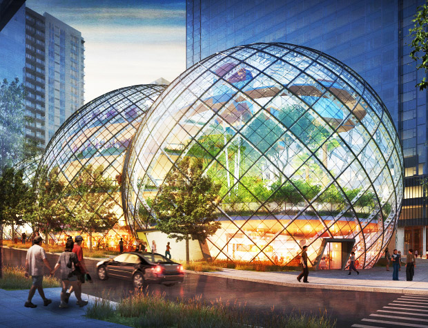 Nbbj Unveils Striking Biosphere Greenhouses For Amazon S
