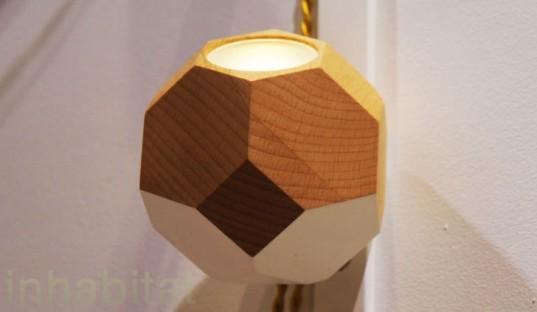 Bower, Polaris Lamp, scrap wood, BKLYN Designs, Bower lamp