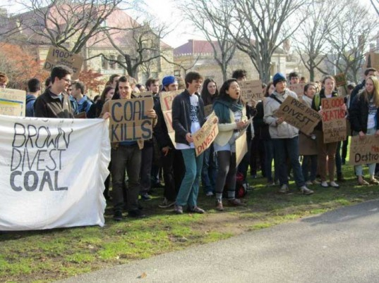 brown university, coal, mining, brown divest coal campaign, fossi fuel, dirty