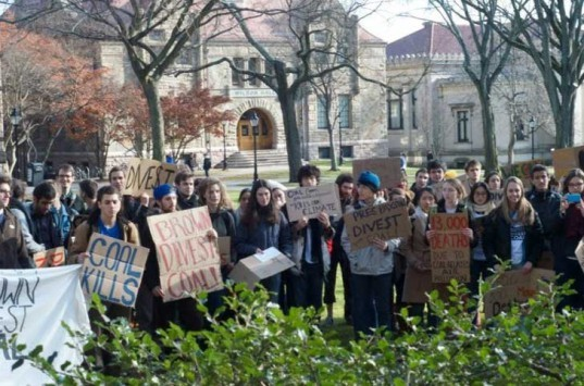 brown university, coal, mining, brown divest coal campaign, fossi fuel, dirty, protest