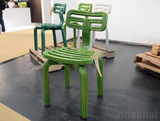 Dir Vander Koolj Recycled Plastic Chubby Chair, icff, international contemporary furniture fair, new york design week, icff 2013, green design, sustainable design, green design events, design show, nydw, new york design week 2013, green interiors, sustainable interiors, green furniture, eco furniture, green products
