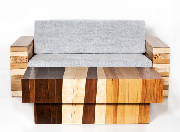 Chissick Design Turns Salvaged Wood Scraps Into Beautiful Fused Furniture  Salvaged Wood Furniture by Eli Chissick