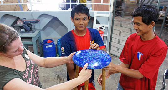 Ffrash Project Transforms Trash Into Recycled Furnishings in Indonesia