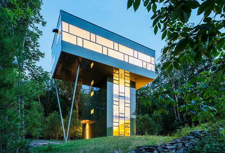 Gluck S Tower House Is An Ultra Modern Treehouse For A Family Of