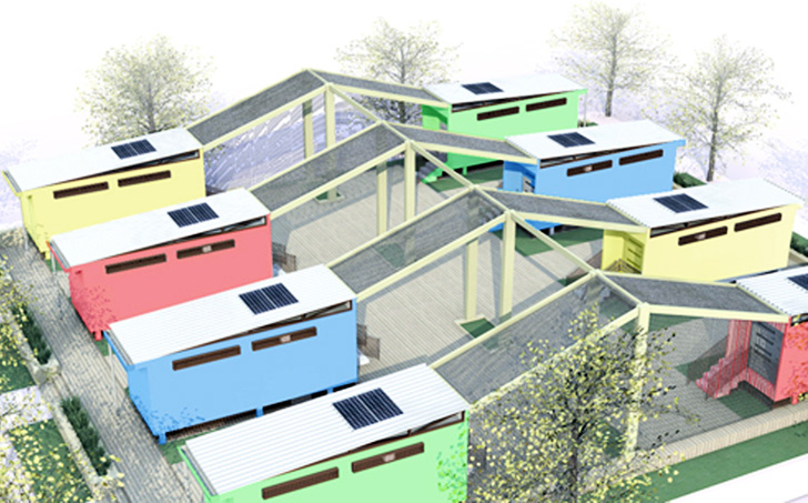 Green Cabinet Designs Shipping Container Space Cabins for Tamale