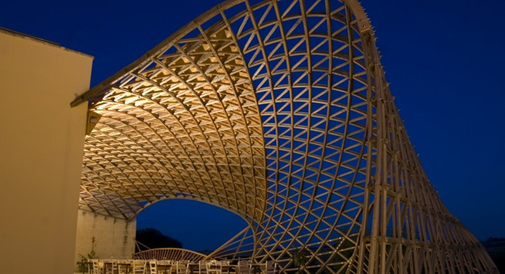 Architecture & Gridshellu0027s Parametrically-Designed Canopy Shades Masseria ...