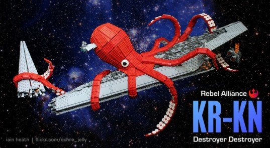 kr-kn, kraken, lego, iain heath, darth vader, super star destroyer, rebel alliance, star wars