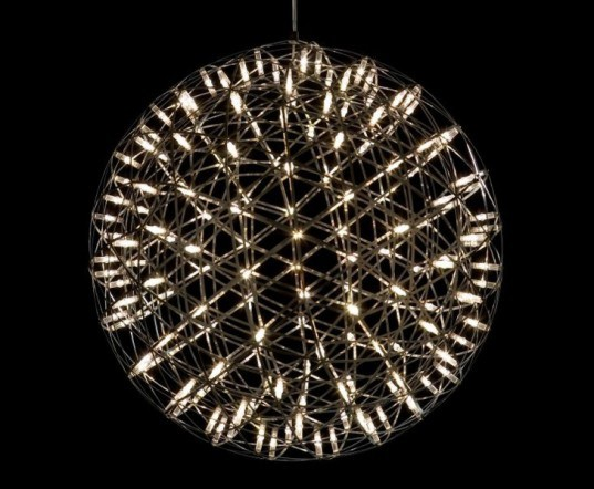 Raimond Chandelier, green design, eco design, sustainable design, ICFF, Moooi, LED chandelier, energy efficient lighting, fireworks chandelier