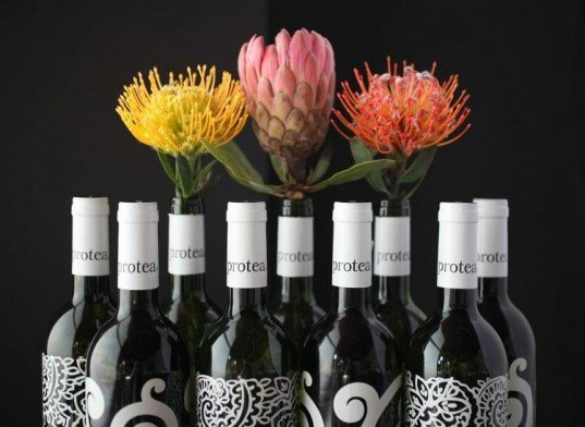 Protea, wine, wine bottles, South Africa, Mark Eisen, fashion designer, fashion, upcycling, recycling, creative reuse, alcohol, happy hour