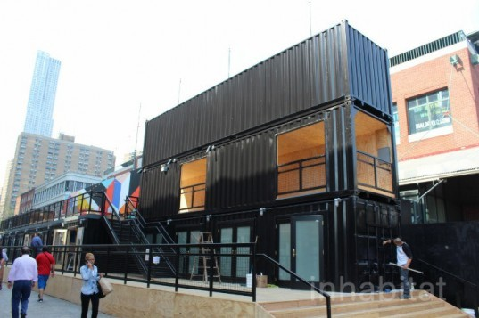 South Street Seaport Shipping Container Beer Garden