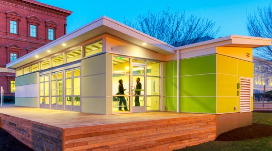 Sprout Space, Perkins + Will, Triumph Modular, portable classroom, prefab design, prefabricated architecture, sustainable building, green building, green school, prefab classroom
