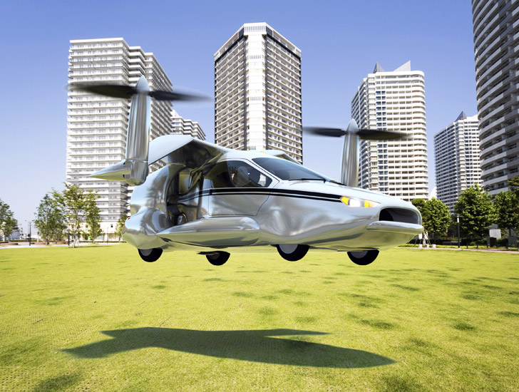 TF-X: Terrafugia Unveils the World's First Flying Hybrid-Electric Car