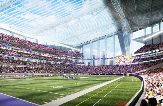 HKS Sports & Entertainment Group, Minnesota Vikings, Metrodome demolition, Minneapolis sports stadium, Viking sports stadium, energy efficient sports stadiums, world's largest transparent roof, green design, designing for sports, sustainable design, eco design, green American football stadiums