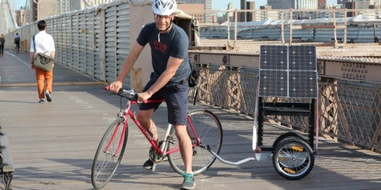 Voltaic Systems, solar panels, solar charger, bike to work day, bike commuting, bike trailer, solar power