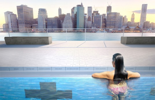 +pool, Archie Lee Coates IV, arup, columbia university, Dong-Ping Wong, east river, eco design, family design firm, floating pool, fundraising, green architecture, green design, Je