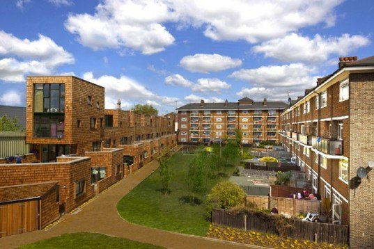 London, RiBA, Beveridge Mews, Hannibal Road Gardens, social housing, sustainable housing, rainwater harvesting, greywater recycling, green design, sustainable design, eco-design, community garden, rooftop terrace, timber clad home