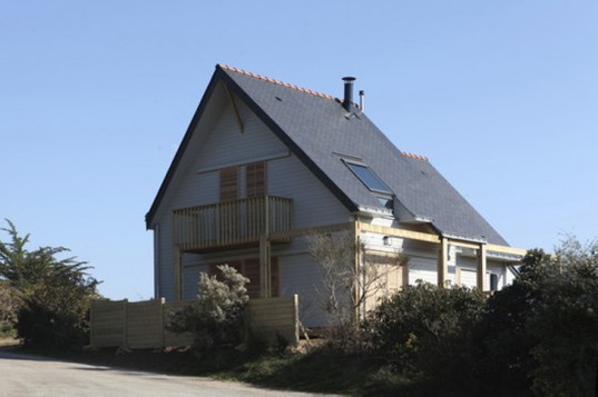 Bioclimate, Residential, House, Gulf of Morbihan, Patrice Bideau, France, Sustainable, Energy Efficient, thermodynamic heating, sustainable renovation