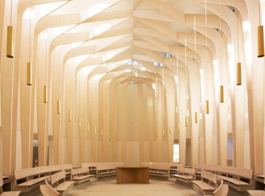 green design, eco design, sustainable design, Niall McLaughlin Architects, RIBA competition, RIBA award, Bishop Edward King Chapel, sustainable chapel, wooden chapel, timber chapel