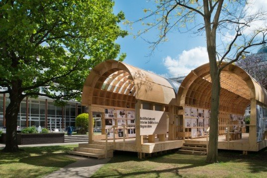 Brighton University, Graduate school architecture project, prefabricated pavilion, recycled materials, green design, sustainable design, eco-design, upcycled design, prefab housing, environmental education, architectural education