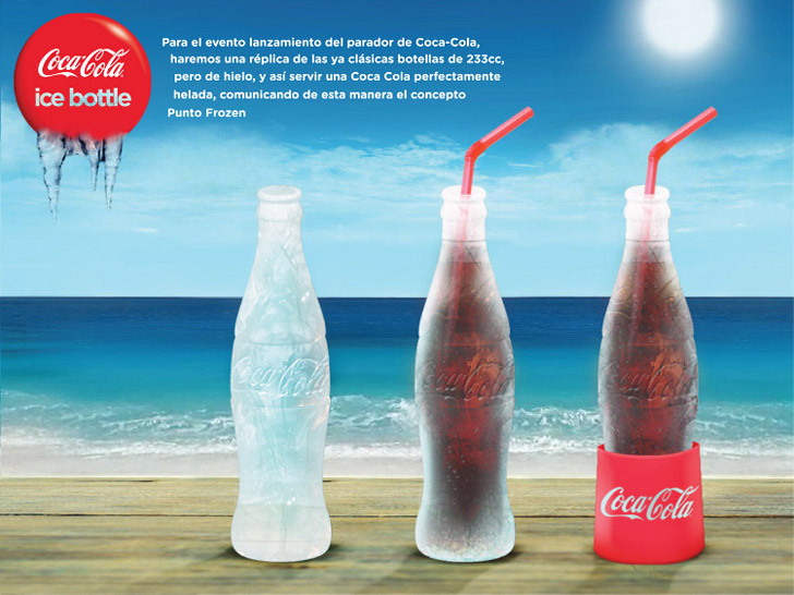 Coke's New Ice Bottle Keeps Drinks Cool and Melts Away With No Waste