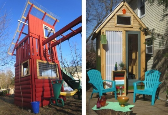 "Relax Shacks, Scrap materials, Salvaged materials, green design, sustainable design, eco-design, upcycled materials, tiny homes, Derek ""Deek"" Diedricksen, Humble Homes/Simple Shacks, New England green design"