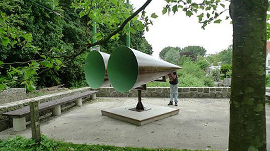 Jeroen Bisscheroux, GINDS, art project, park art, art pavilion, amsterdam art, Amsterdam Zuid, art and sound, sound art