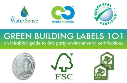 green building labels 101, Green Building Labels 101, green building labels, LEED, C2C, BREEAM, Energy Star, Watersense, Green Seal, Greenseal, FSC, CRI label, Carpet and Rug Institute, Living Building Challenge, green labels, Inhabitat, environmental product and building certifications, green building, sustainable building, green building practices, environmental footprint, eco building, green architecture, building green, eco labels, first party eco label, second party eco label, third party eco label