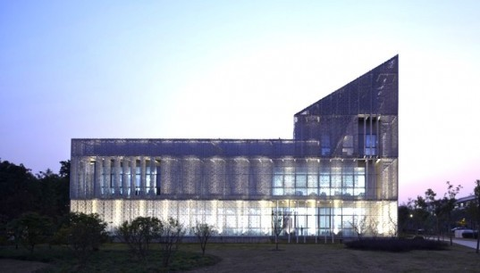 Green Energy Lab, Archea, Shanghai, China, Minhang Campus, Jiao Tung University, Italian Ministry of Environment, solar power, clean tech, double skin, natural cooling, skylight, rooftop photovoltaic
