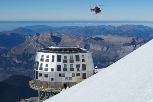 Group-H, self-sufficient, Refuge du Goûter, Mont Blanc, Architecture, Water Issues, Renewable Energy, energy efficiency, Green Materials,