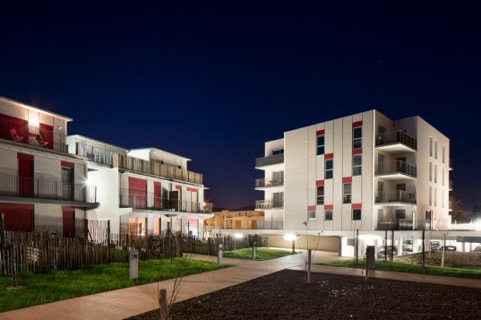 Housing in Nantes, Atelier Tarabusi, sustainable housing, flexible housing, nantes, france, adaptable housing