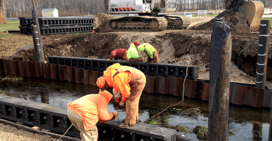 recycled plastic, post consumer plastic, recycled materials, architecture, bridge engineering, longest recycled plastic bridge in America, AXION, ECOTRAX, STRUXURE, environment, news,