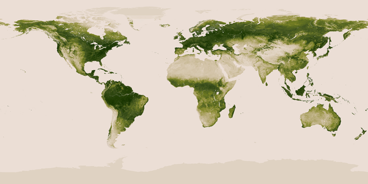 New Satellite Map From NASA And NOAA Shows All The Worlds - World satellite map 2014