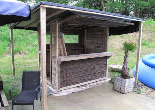 how to build your own beach bar from discarded shipping ForHow To Build A Beach Bar