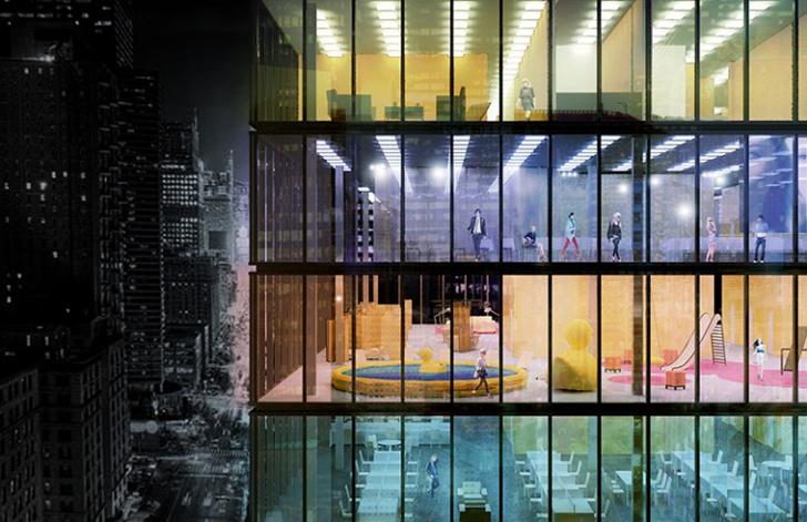 pink cloud pop up hotels transform unused office space into luxury rh inhabitat com renting out unused office space
