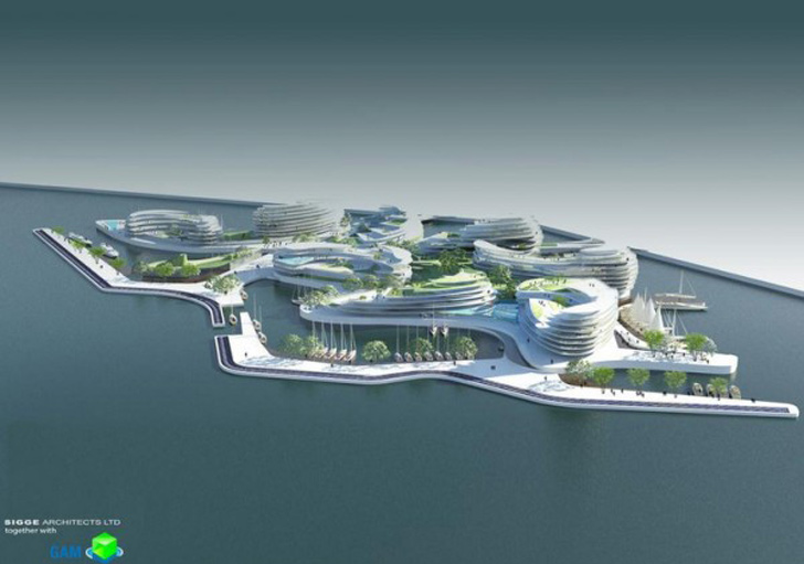 Floating Hotel Part - 30: Floating Hotel In Qatar By Sigge Architects « Inhabitat U2013 Green Design,  Innovation, Architecture, Green Building