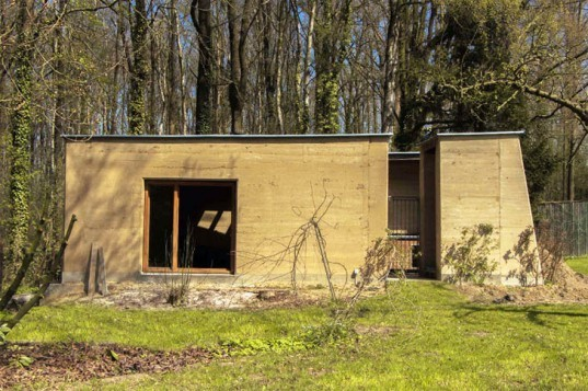 Rammed Earth, Hunting House, Belgium, BC Architects, BC-AS