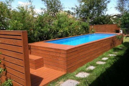 Recycled Pools, swimming pool, repurposed pool, repurposed swimming pool, dumpster pool, recycled materials, pool box
