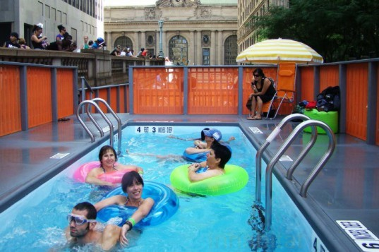 Recycled Pools, swimming pool, repurposed pool, repurposed swimming pool, dumpster pool, recycled materials, park ave dumpster pool