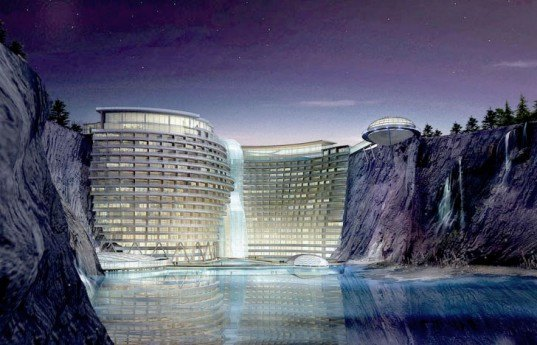 Songjiang hotel, sustainable hotel China, Atkins architecture, Shimao Group, sustainable hotels, green roofed hotels, hotel resort China, Songjiang, geothermal energy, clean energy, renewable energy sources
