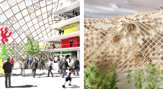 Shigeru Ban, timber buildings, swatch and omega headquarters, Biel, Switzerland, timber construction, renewable materials, green design, sustainable design, eco-design,