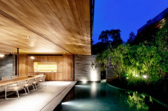 The Wall House, Farm Architects, green roof, green home, singapore, landscape architecture