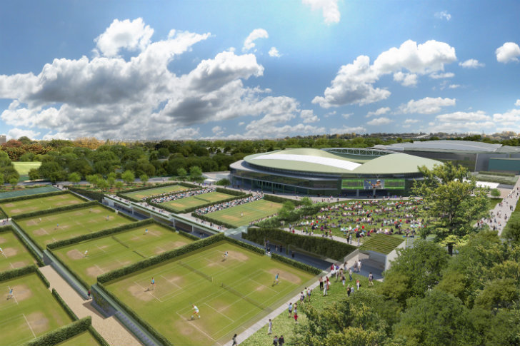 New master plan for wimbledon incorporates green walls for British landscape architects