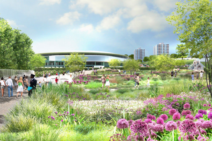 New master plan for wimbledon incorporates green walls - Garden state healthcare associates ...
