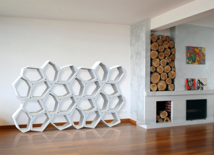 Modular build blocks can be stacked up to create flexible for Frame storage system